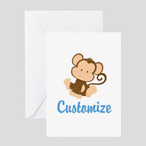 Custom Monkey Greeting Card