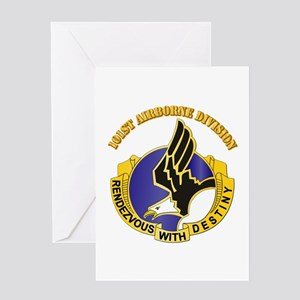 DUI - 101st Airborne Division with Text Greeting C