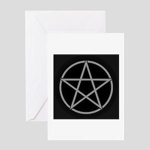 Black Pentacle Greeting Card