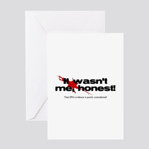 It wasn't me, honest! Greeting Card