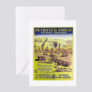 Petrified Forest Greeting Cards