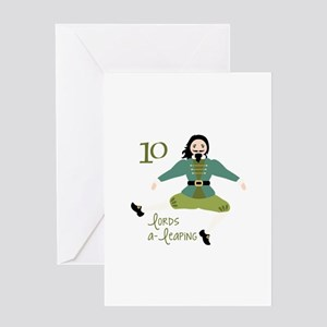 10 loRDS a- leaPiNG Greeting Cards