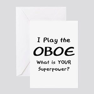 play oboe Greeting Card
