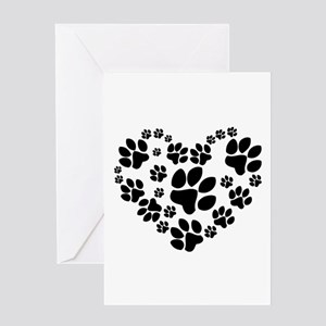 Paws Heart Greeting Card