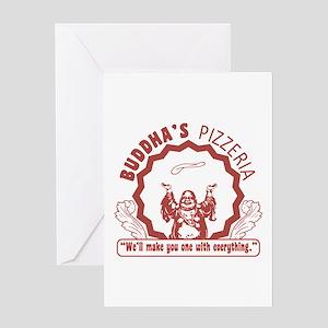 Buddha's Pizzeria Greeting Card
