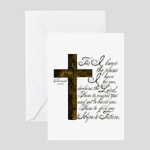 Plan of God Jeremiah 29:11 Greeting Card