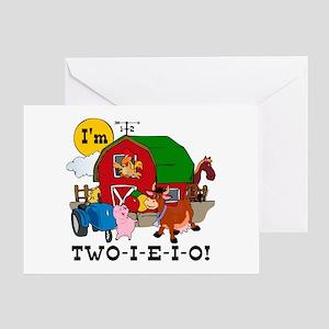TWO-I-E-I-O Greeting Card