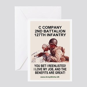 ARNG-127th-Infantry-C-Co-Reenlistmen Greeting Card