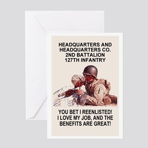 ARNG-127th-Infantry-HHC-You-Bet-Post Greeting Card