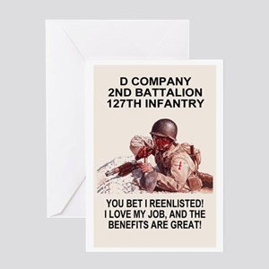 ARNG-127th-Infantry-D-Co-You-Bet-Pos Greeting Card