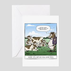 Tofu Cow Greeting Card