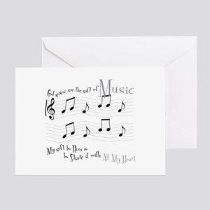 Gift of Music #1 Greeting Card