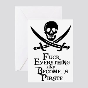 Become a pirate Greeting Card