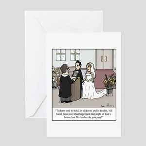 Wedding Vow Disaster Greeting Card