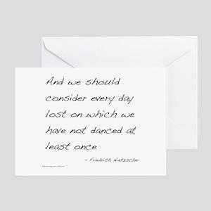 Nietzsche on Dance Greeting Card