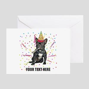 Custom French Bulldog Birthday Greeting Card