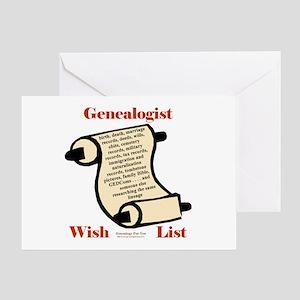 Genealogy Wish List Greeting Card