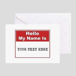 Custom Name Tag Greeting Card