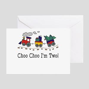 Choo Choo I'm 2 Greeting Card
