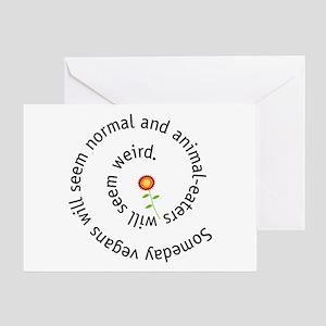 Normal vegan Greeting Card