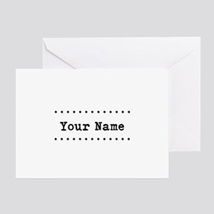 Custom Name Greeting Card