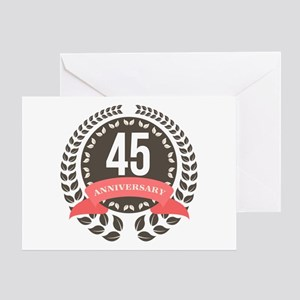 45Years Anniversary Laurel Badge Greeting Card