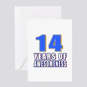 14 Years Of Awesomeness Greeting Card