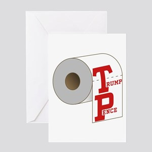 TP Toilet Paper Trump Pence Greeting Cards