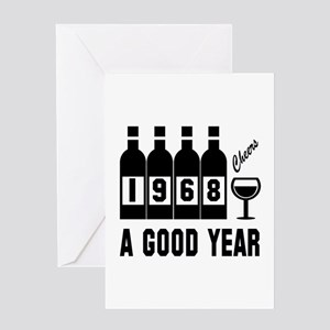 1968 A Good Year, Cheers Greeting Card