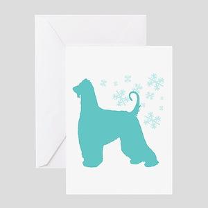 Afghan Hound Snowflake Greeting Card