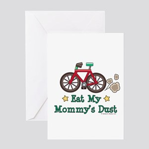 Mommy's Dust Cycling Bicycle Greeting Card
