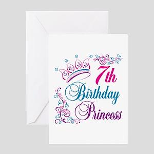 7th Birthday Princess Greeting Card