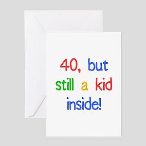 Fun 40th Birthday Humor Greeting Card
