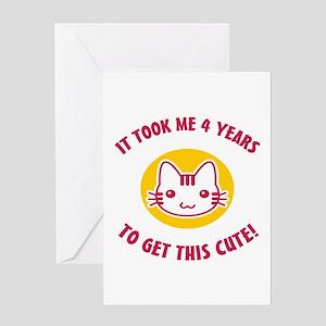 Cute 4th Birthday Greeting Card
