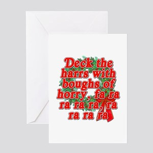 Deck The Harrs - Christmas Story Chinese Greeting