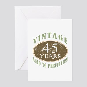 Vintage 45th Birthday Greeting Card