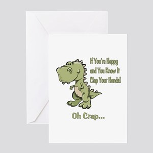 Happy TRex Greeting Card
