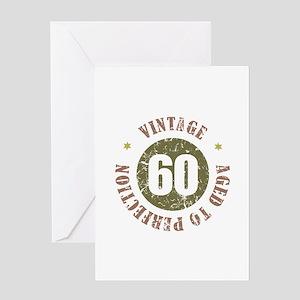 60th Vintage birthday Greeting Card