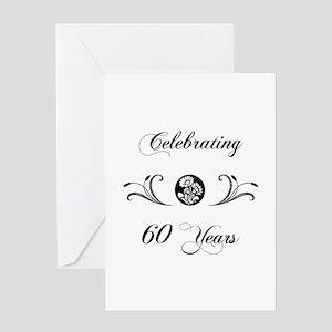 60th Anniversary (b&w) Greeting Card