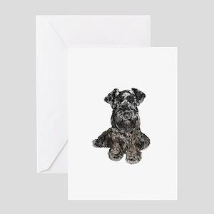 Schnauzer (gp-blk) Greeting Card