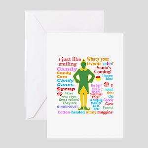 Elf Movie Quotes Greeting Card