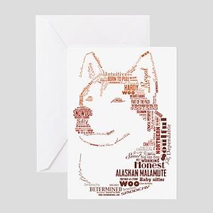 Malamute Words Greeting Card
