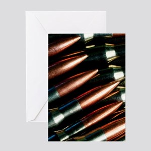 Rifle Bullets Greeting Card