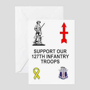 ARNG-127th-Infantry-Family-Poster.gi Greeting Card