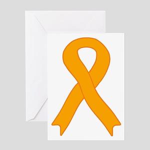 Orange Ribbon Greeting Card