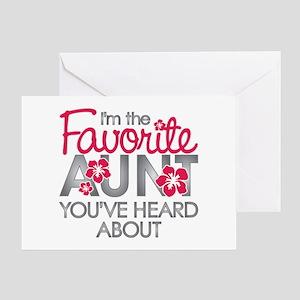 Favorite Aunt Greeting Card