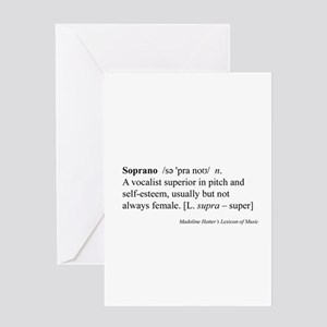 Humorous Soprano Definition Greeting Card