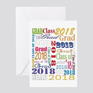 2018 Graduation Typography Greeting Card