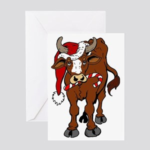 christmas-cow Greeting Card