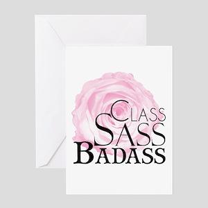 Class, Sass, Badass Greeting Cards
